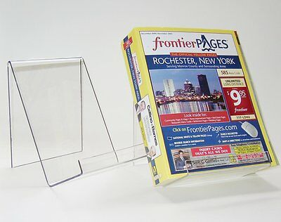 (4 Pack) Wide & Deep Acrylic Book Display Stand cs-6