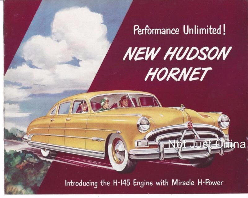 Vintage Hudson - 1951 Hudson Hornet,  8 Page Colored Brochure or Pamphlet