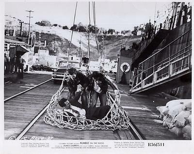 Scene From  Rumble On The Docks  1956 Vintage Movie Still