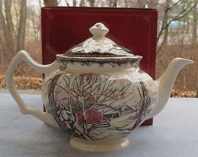 Johnson Brothers Friendly Village Teapot Tea Pot Server New In Box