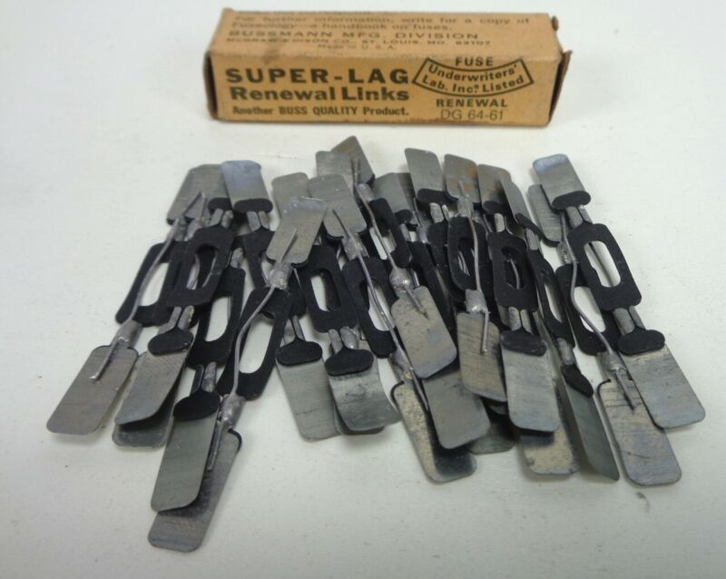 (20) BUSSMANN - SUPER-LAG Renewal Links - LKN-5, LKN5, 250V - (NEW in the BOX)