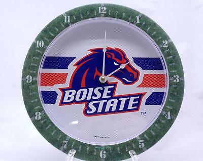 Boise State Clock NCAA College Wall Hanging Football -
