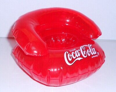 Coca-Colaaufblasbarer MINI Sessel fürs Handy, 13x13xH9cm, wie NEU! in OVP,GUT!