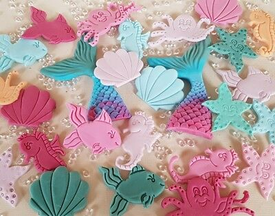 Ariel seestern Kindergeburtstag Meerjungfrau Tortendekoration 16 Teile Fondant - See Dekorationen
