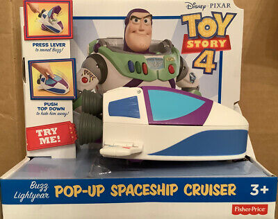 NEW-Disney Pixar*TOY STORY 4*Buzz Lightyear/Pop-Up Spaceship Cruiser~NIP~s
