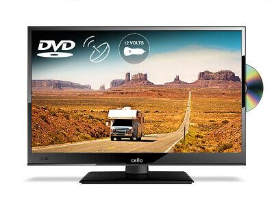 "CELLO 16"" inch 12v LED TV DVD FREEVIEW HD & SAT TUNER 1080p USB HDMI CARAVAN TV"