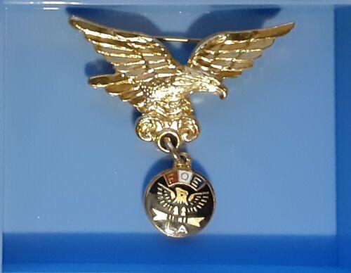 Vintage LA  F O E  Eagle & Charm Pin