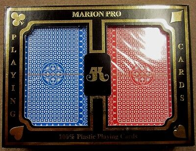 Marion Pro Clover 100% Plastic Jumbo Index Bridge Playing Cards 549 FREE Ship