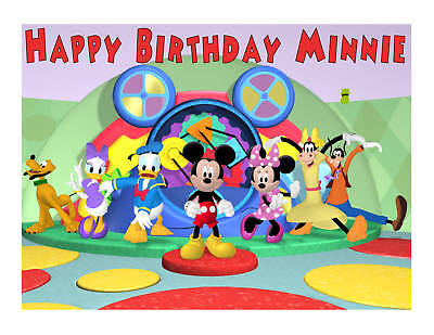 (Mickey Mouse Clubhouse edible cake image frosting sheet party decoration)