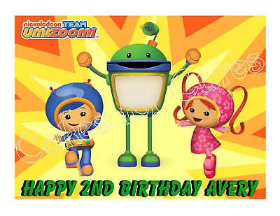 Team UmiZoomi edible cake topper image frosting sheet party decoration (Team Umizoomi Party Decorations)