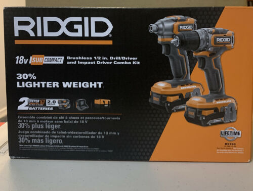 NEW Ridgid R9780 18-V Brushless SubCompact Drill Driver Impa