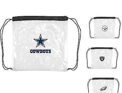 Stadium Approved NFL Clear Cinch Bags Assorted Teams Size 12