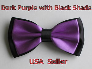 (6 Colors) Men's Tuxedo Classic Bowtie Multi Style Neckwear Adjustable Bow Tie