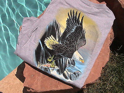 Roundtree & Yorke Outfitters Line Long Sleeve Gray Eagle T-shirt L -
