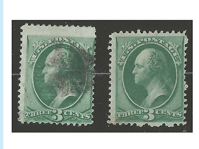 US Stamps, 1870-71, # 136 Grilled (used) & 147 (Mint NG), Bright Color