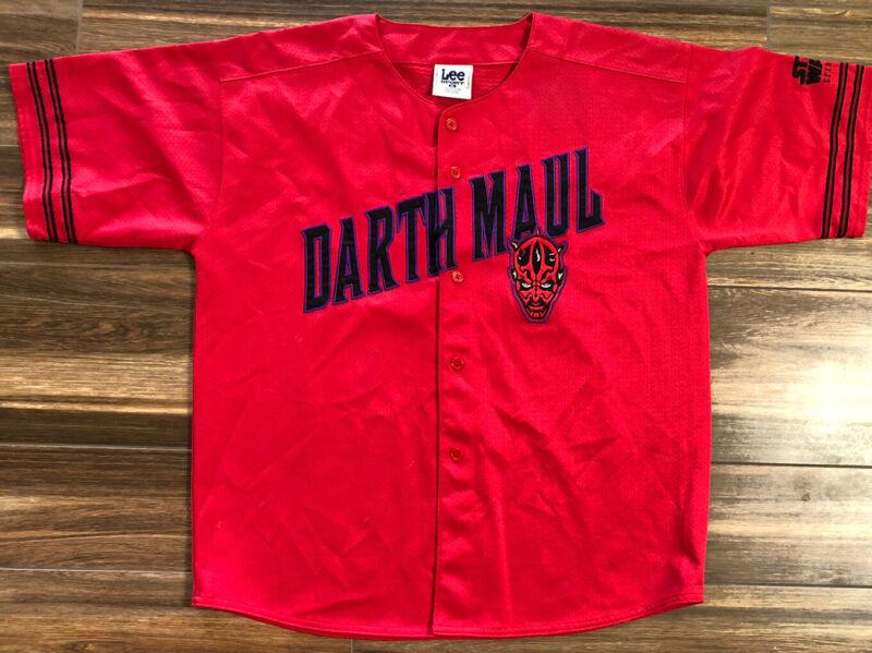 Darth Maul Star Wars Episode I Baseball Jersey - Mens XL - Lee Red EUC