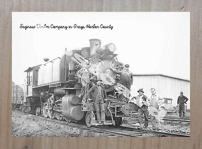 Historic Saginaw Timber Company Train Postcard 1