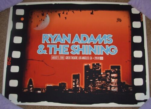 RYAN ADAMS concert gig poster LOS ANGELES 8-5-16 2016 ivan minsloff