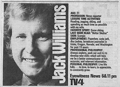 1975 Tv Ad Jack Williams News On Wbz In Boston Massachusetts