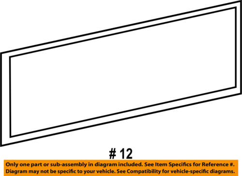 Genuine New Trunk Hatch Flap Seal Gasket For Audi Q5 09-17 8R0827705E
