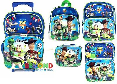 New Disney Toy Story 4 Rolling Backpack Mini Small Backpack Insulated Lunch Bag ()