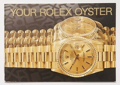 Genuine Your Rolex Oyster 1995 English Manual Booklet Papers Book Guide