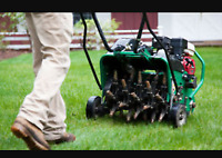 Lawn aeration only $40!