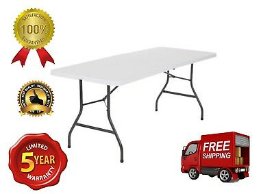 Cosco Office Centerfold Folding Table White 6 Foot Portable Home Party Plastic Cosco Office Folding Table