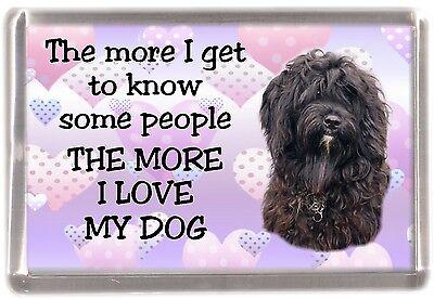 "Tibetan Terrier Dog Fridge Magnet ""THE MORE I LOVE MY DOG"" No 2 by Starprint"