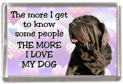"Neapolitan Mastiff Dog Fridge Magnet ""THE MORE I LOVE MY DOG""  by Starprint"