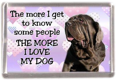 "Neapolitan Mastiff Dog Fridge Magnet ""THE MORE I LOVE MY DOG""  by Starprint"