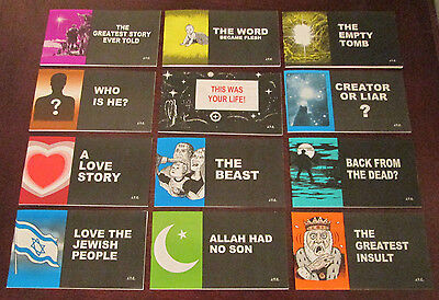 Lot of 12 Brand New Chick Publication Christian Cartoons God Jesus Comic Tracts
