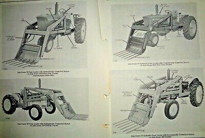 John Deere 35 Farm Loader Parts Catalog Manual Original Fits 40-3010 Tractors