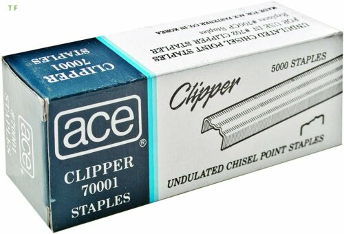 Advantus ACE Undulated Clipper Staples for 07020, Box of 5,000 Staples (ACE70001