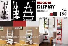 Wooden Display Ladder Book Shelf Corner Wall Rack Home Furniture Derrimut Brimbank Area Preview