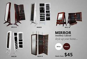 New Tabletop / Full Length Wooden Jewellery Mirror Cabinet Box Richlands Brisbane South West Preview