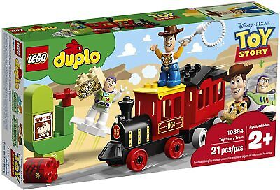 LEGO DUPLO Disney Toy Story Train Set includes Buzz Lightyear and Woody 21pieces