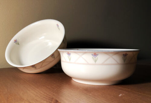 2 1980s country-style vtg dcd gorham lidsay town&country soup/coupe cereal bowls