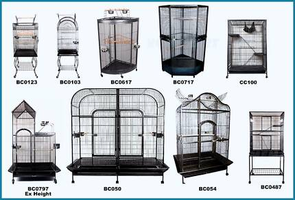 Large Stand Alone Parrot Aviary Budgie Canary Bird Cage Play Gym