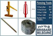 Y-Post Driver Lifter Barbed Wire Y Posts 1.8M 1.65M Fencing Tools Derrimut Brimbank Area Preview