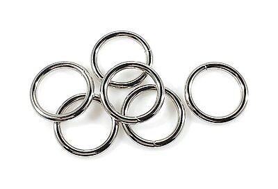 """STEEL RINGS WELDED Nickel Plate 3/4"""" ID 75 pcs"""