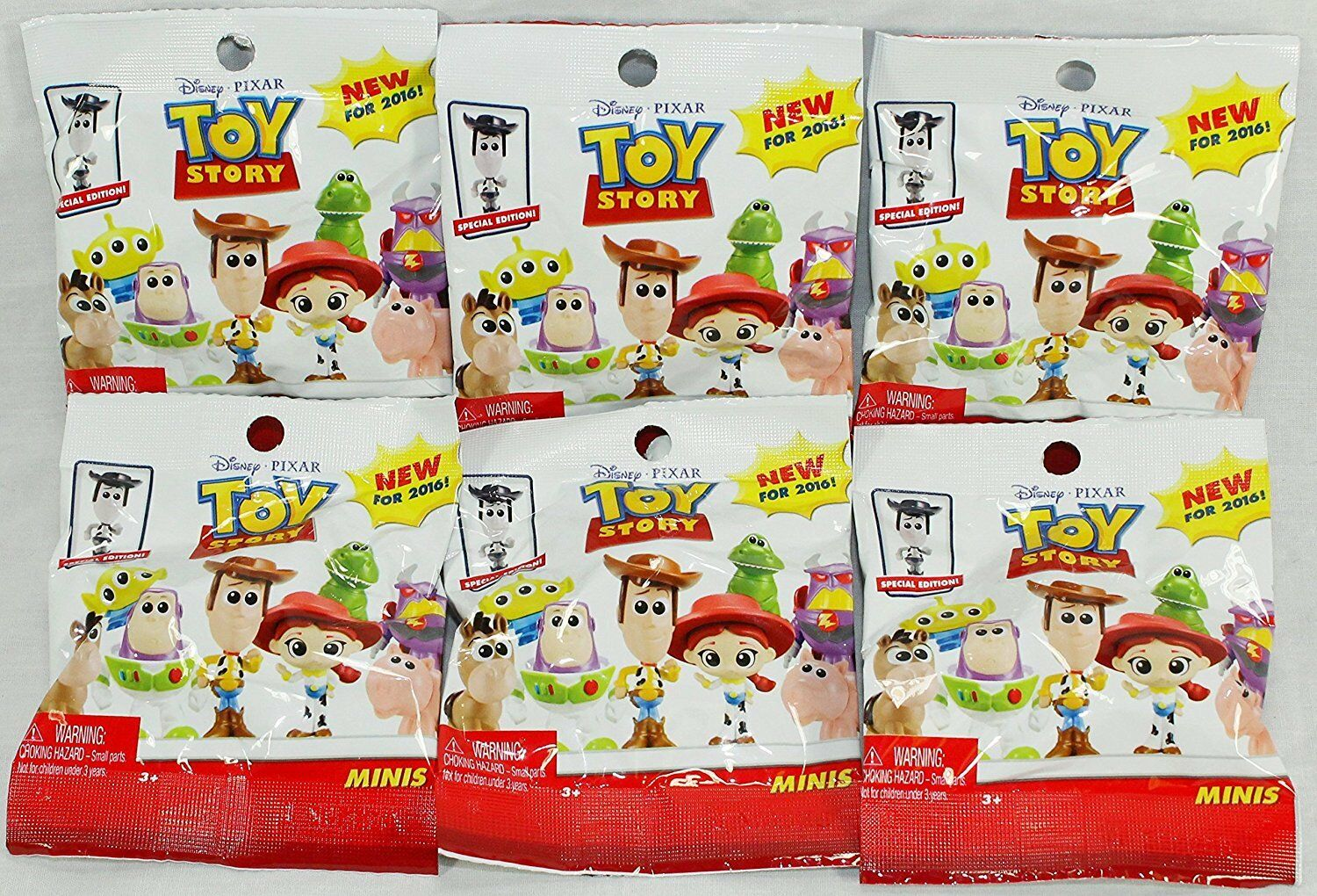 "(Bundle Of 6) Disney Pixar Toy Story Blind Pack 2"" Mini Figure ** **"