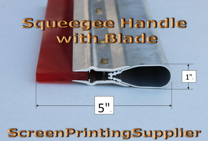 """6"""" Screen Printing Squeegee -Aluminum Handle with 70 Single Duro Blade"""