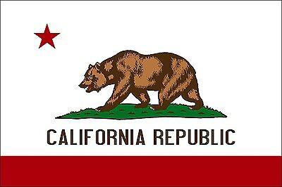 State Flag Bumper Sticker - 3x5 inch State Flag of California Sticker - decal bumper cali bear californian