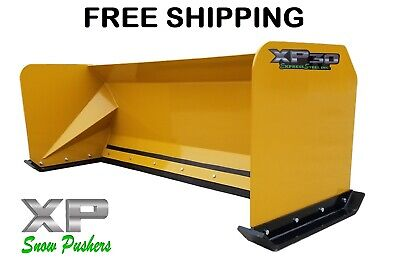 7 Xp30 Snow Pusher Boxes Skid Steer Backhoe Loader Bobcat Free Shipping