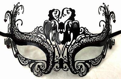 Masquerade Eye Face Mask Venetian Filigree Lace Renaissance Costume Black Purple