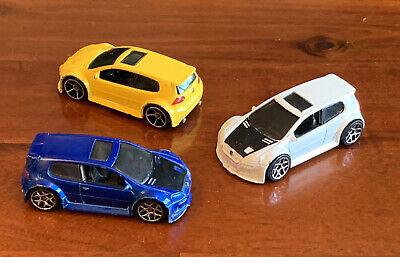 2007 Hot Wheels 1:64 Volkswagen Golf GTi Mk5 x3. Unboxed, Playworn.