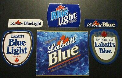 LABATT BLUE light 6 STICKER PACK LOT decal craft beer brewing brewery