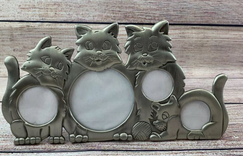 Pewter Kitty Cat Picture Frame