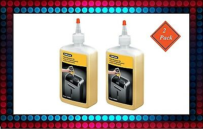 Fellowes Shredder Cutter Oil Lube Lubricant 12oz Bottle w/ Extension Nozzle 2PK